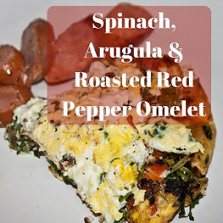 Spinach, Arugula & Roasted Red Pepper Omelet