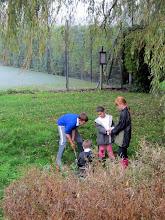 Photo: Bridge school pupils planting bulbs on the Recreation Ground October 2012