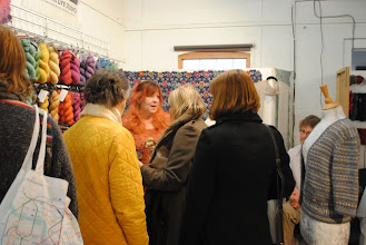 Photo: It wasn't always easy getting in to the Natural Dye Studios stall...