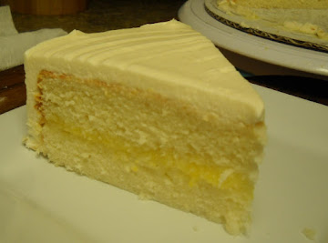 Southern Lemon White Cake With Lemon Curd Recipe