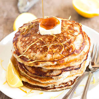 Bisquick Lemon Poppy Seed Pancakes.