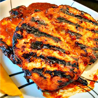 Mango Barbecued Pork Chops for a Tropical #SundaySupper.
