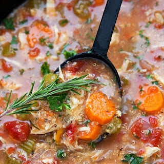 Crockpot Italian Chicken, Quinoa, and Vegetable Soup Recipe