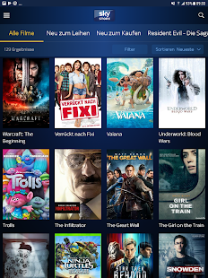 Sky Store: Filme Screenshot