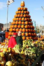 Photo: A tower of pumpkins