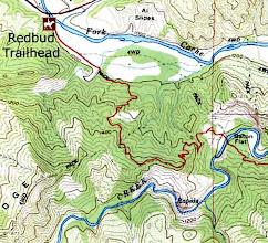 Photo: Trail map, Cache Creek Wildlife Area, Redbud Trail.