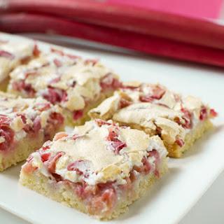 Rhubarb Meringue Cake One 18x13 cookie sheet