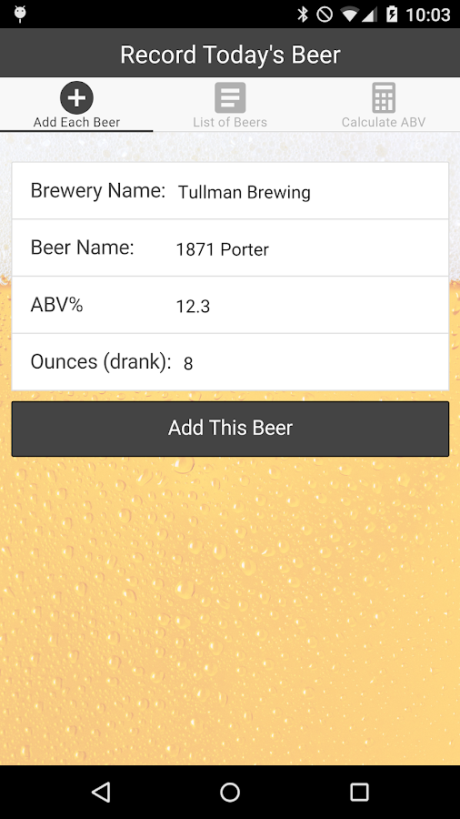 Counting Cans - Craft Beer ABV- screenshot