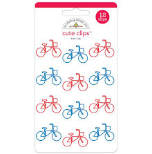 Doodlebug Cute Clips 12/Pkg - Bike Ride UTGÅENDE