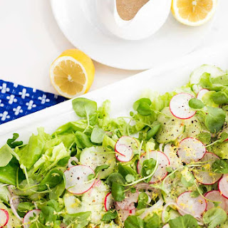 Butter Lettuce and Watercress Salad.