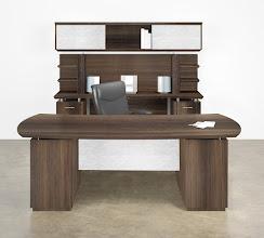 Photo: 1A-NEW Sterling Desk-Credenza Textured Brown Sugar