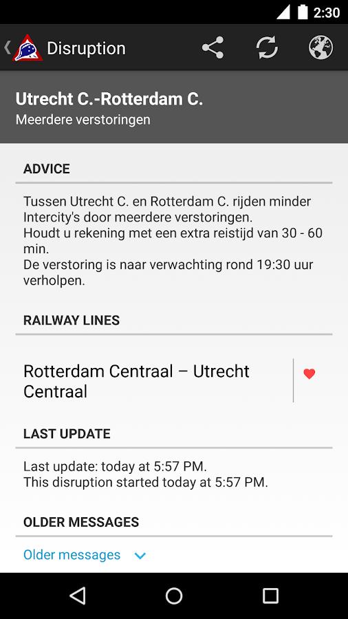 NL Train Navigator- screenshot