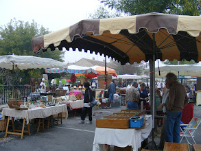 Photo: The Sunday attraction is the market, with all sorts of antiques and bric-a-brac.