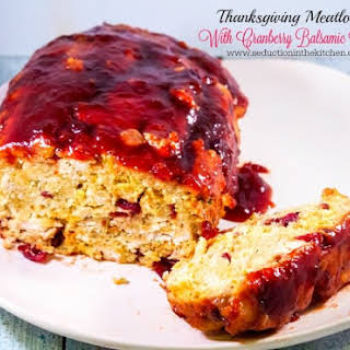 Thanksgiving Meatloaf With Cranberry Balsamic Glaze.