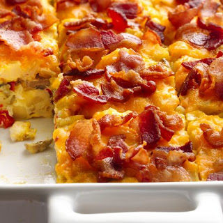 Bacon and Hash Brown Egg Bake.