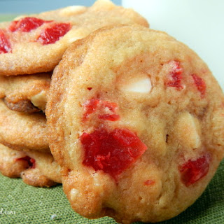 White Chocolate Cherry Cookies