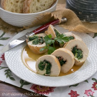 Chicken Spinach and Prosciutto Pinwheels