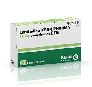 loratadina 10mg 20comprimidos kern pharma