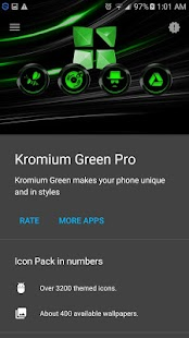 KromiumGrn iconpack Next Theme- screenshot thumbnail
