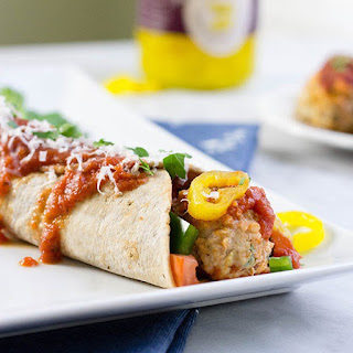 Zesty Italian Meatball Wrap