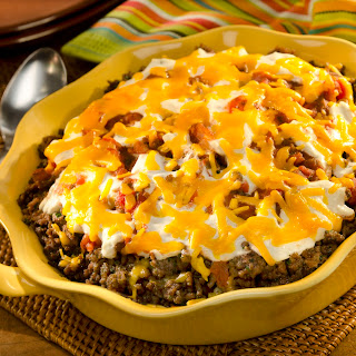 Mexican Beef & Corn Casserole.