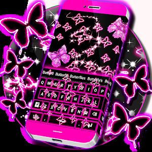 Neon Butterflies Keyboard for PC