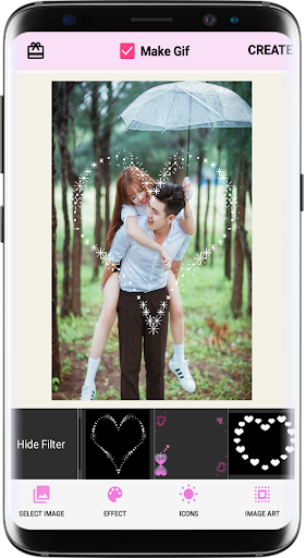 Foto do Photo effects theme love - photo collage