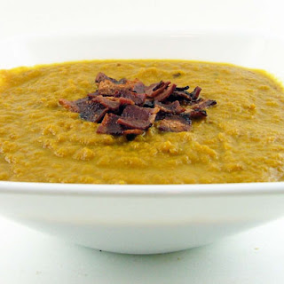 Spiced Pumpkin Soup with Turkey Bacon