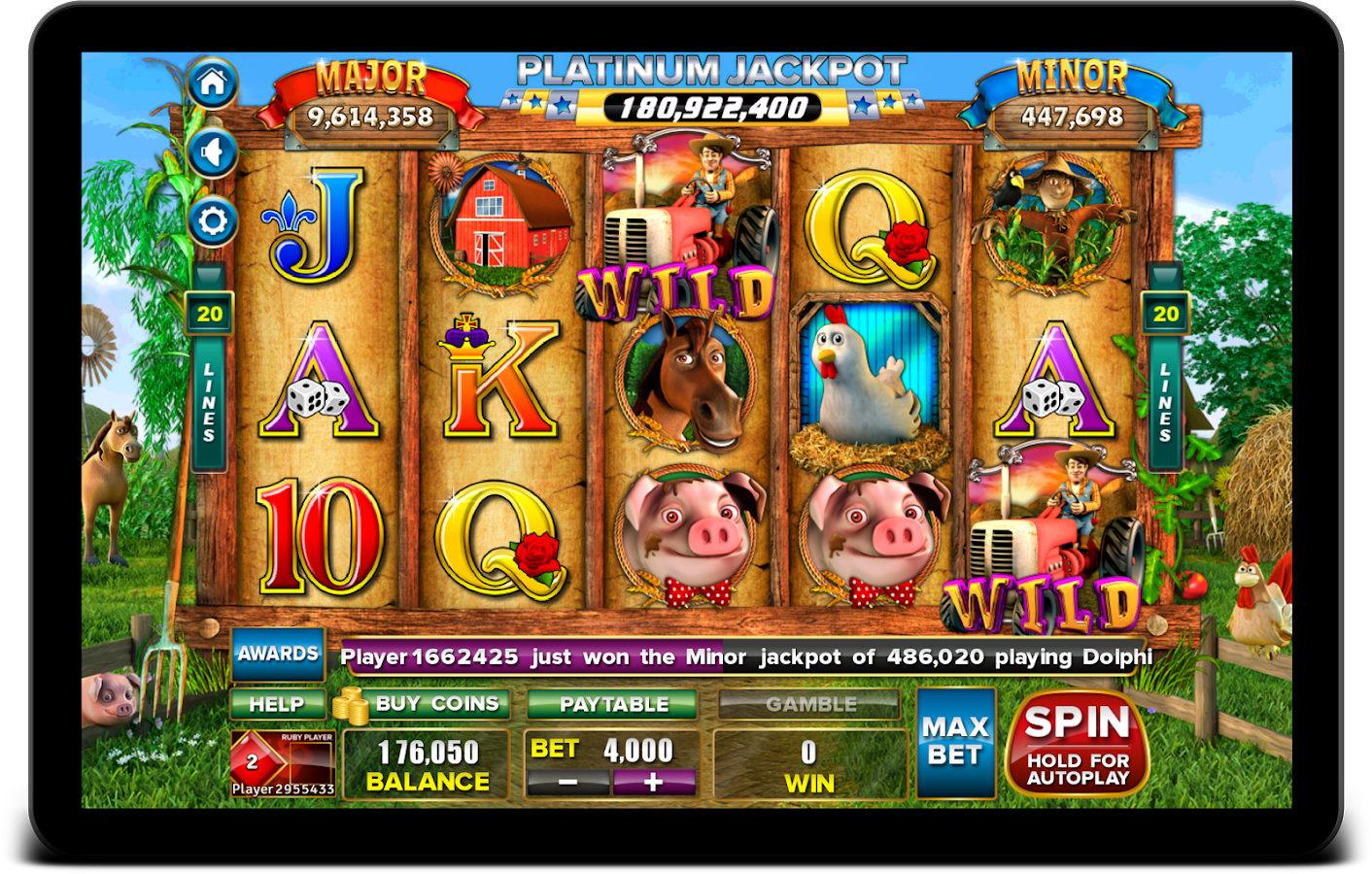 players paradise free casino games on facebook