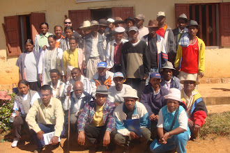 Photo: With farmers supported by SAF-FJKM.