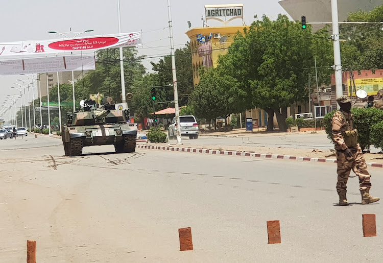 Trucks loaded with soldiers were seen patrolling the streets around central N'Djamena.