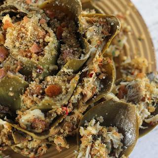 Crabmeat-Stuffed Artichoke