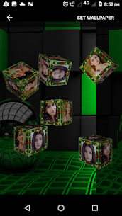 3D Photo Cube Frame Live Wallpaper 4