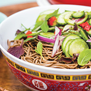 Soba Salad with Marinated Cucumber and Ponzu
