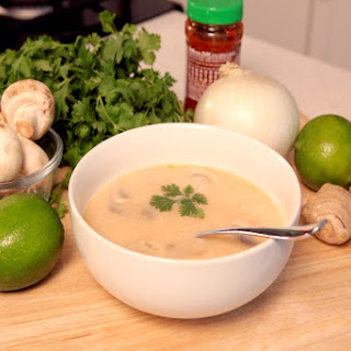 Thai-style Coconut, Shredded Chicken & Lime Soup.