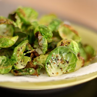 Baked Lemon Pepper Brussels Sprouts Chips