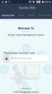 Society Visitor Management System - náhled