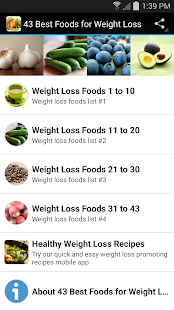 43 Best Foods for Weight Loss- screenshot thumbnail