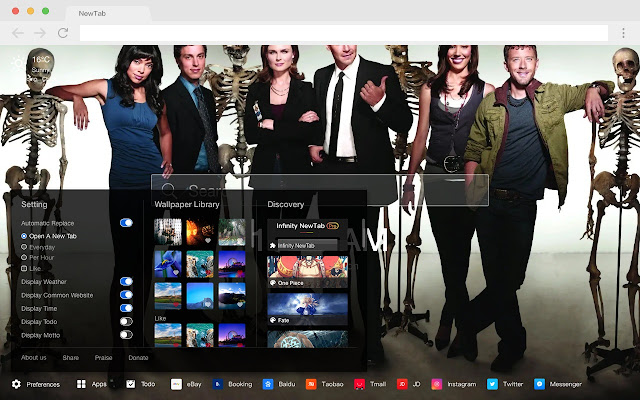 Angela Montenegro Top HD TV New Tabs Theme