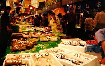 Photo: Fish market, Kanazawa, 1999.
