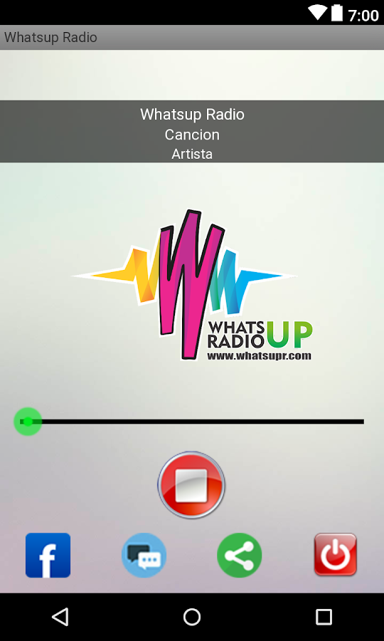 Whats Up Radio- screenshot