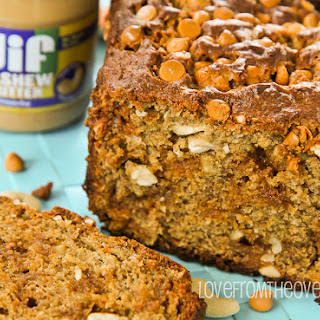 Cashew Butter Butterscotch Banana Bread