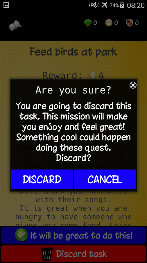 Real quests- screenshot