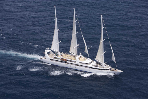 Ponant-general2.jpg - An aerial view of Le Ponant. Enjoy an intimate getaway on the three-masted luxury ship.