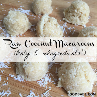 Food Babe's Raw Coconut Macaroons.