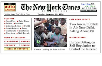 Photo: The New York Times (November 12. 1996)