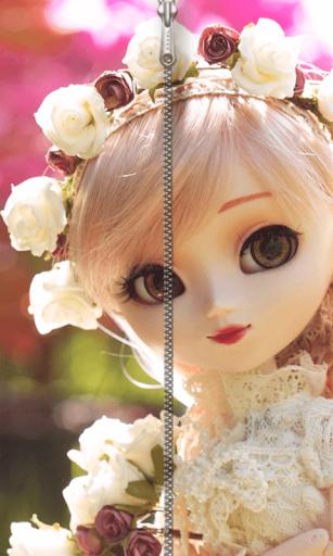 Barbie Doll Zipper ScreenLock