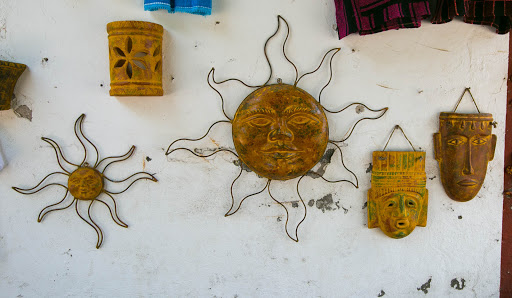Wall hangings in Loreto.jpg - Wanted to take home some of the alluring wall art crafted by local artisans.
