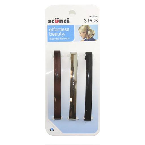 ganchos para cabello scunci barretes 8.5 cm 3und
