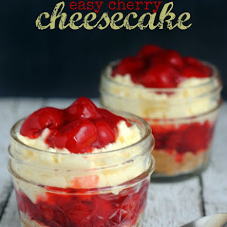Easy Cherry Cheesecake in a Jar.
